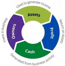 Assets generate the income